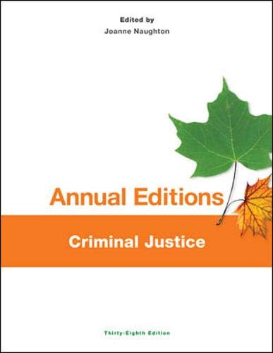 9781259171390: Annual Editions: Criminal Justice, 38/e