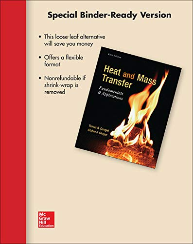 9781259173301: Loose Leaf for Heat and Mass Transfer: Fundamentals and Applications