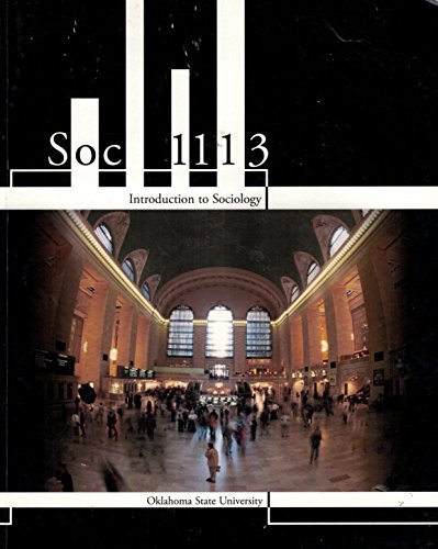 9781259174018: Soc 1113 Introduction to Sociology Ok State Univ McGraw Hill
