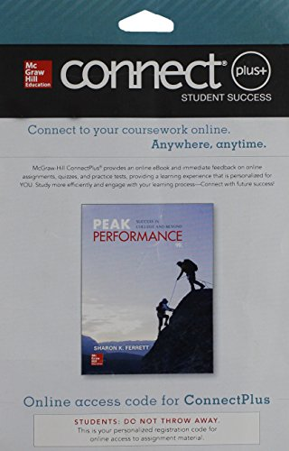 9781259174087: Connect Access Card for Peak Performance: Success in College and Beyond
