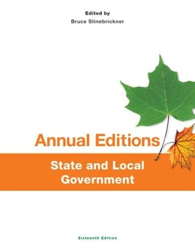 9781259175442: Annual Editions: State and Local Government, 16/e