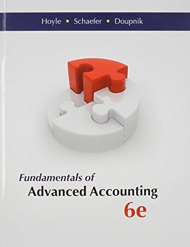 Fundamentals of Advanced Accounting [] [Nov 06,