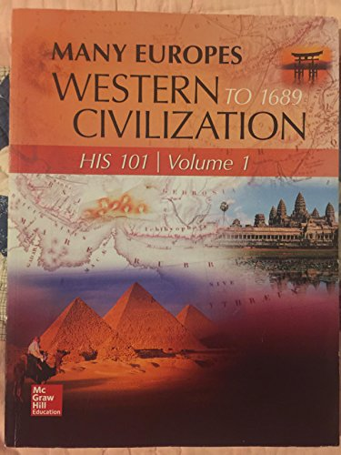9781259176883: Western Civilization to 1689 Volume 1