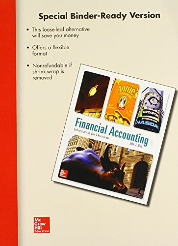 9781259179488: Loose Leaf Financial Accounting: Information for Decisions with Connect Access Card