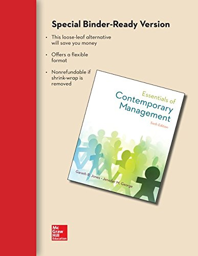 9781259180279: Loose Leaf Essentials of Contemporary Management with Connect Access Card