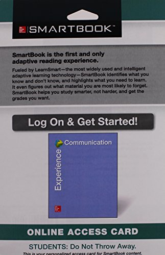 9781259181566: SmartBook Access Card for Experience Communication