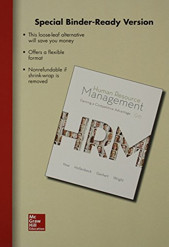 9781259181917: Loose Leaf Human Resource Management with Connect Access Card