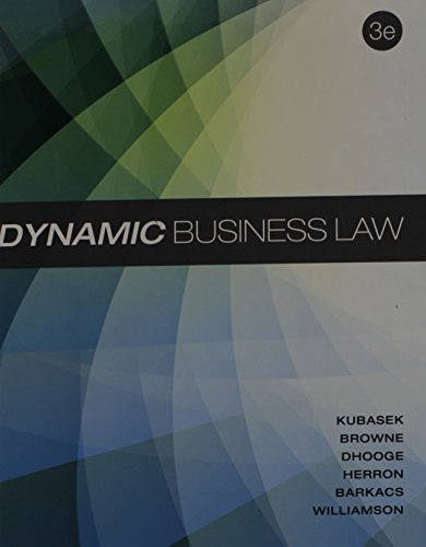 9781259182129: Dynamic Business Law with Connect Access Card