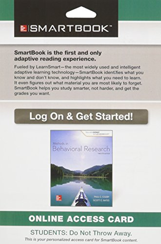 9781259183300: Smartbook Access Card for Methods in Behavioral Research