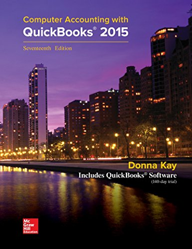 9781259183867: Computer Accounting with QuickBooks 2015