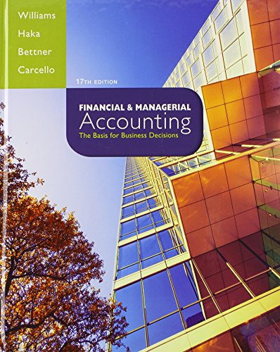 9781259183973: Financial & Managerial Accounting with Connect Plus Access Code: The Basis for Business Decisions