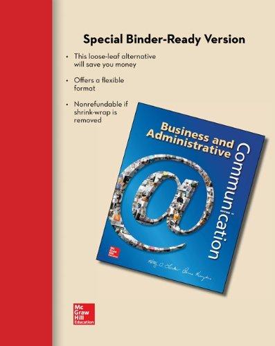 Business and Adminstrative Communication [Paperback] [Nov 07,