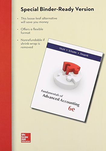 9781259184482: Loose Leaf Fundamentals of Advanced Accounting with Connect Access Card