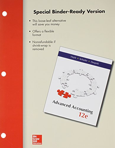Loose Leaf Advanced Accounting with Connect Access: Joe Ben Hoyle,Thomas