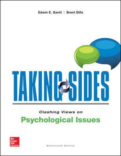 9781259185342: Taking Sides: Clashing VIews on Psychological Issues
