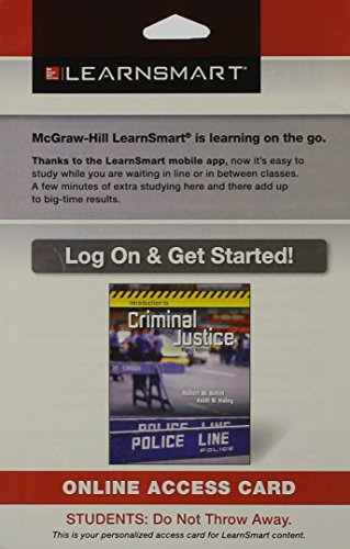 9781259187308: LearnSmart Access Card for Introduction to Criminal Justice