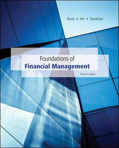 Foundations of Financial Management with Time Value: Block, Stanley, Hirt,
