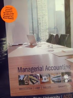 9781259194320: Managerial Accounting (Custom Edition for Louisiana State University ACCT 2101)