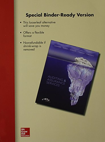 Loose Leaf Auditing & Assurance Services with ACL Software Student CD-ROM (Loose Leaf): Timothy...