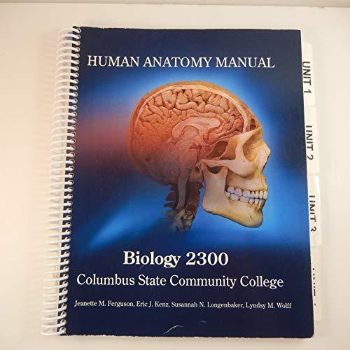 9781259205088: Human Anatomy Manual, Biology 2300, Columbus State Community College