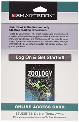 9781259206719: Smartbook Access Card for Integrated Principles of Zoology
