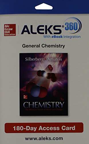 9781259206740: ALEKS 360 Access Card (1 Semester) for Chemistry: The Molecular Nature of Matter