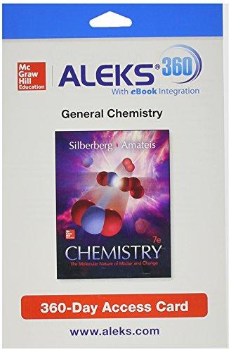 ALEKS 360 Access Card (2 Semester) for: Silberberg, Martin, Amateis,