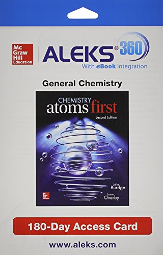 9781259207013: ALEKS 360 Access Card (1 Semester) for Chemistry: Atoms First