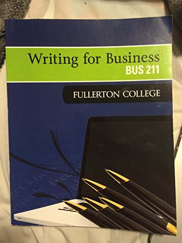 9781259207686: Writing for Business - BUS 211 Fullerton College