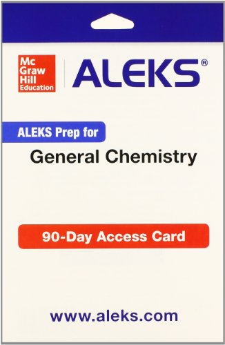 9781259207921: ALEKS Prep for General Chemistry Access Card 12 weeks