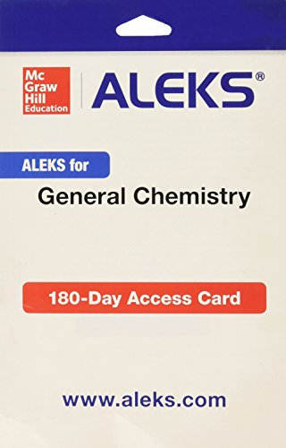 9781259207945: ALEKS for General Chemistry Access Card 1 semester