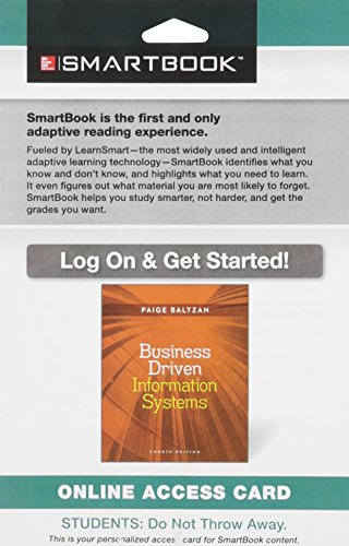 9781259208652: Smartbook Access Card for Business Driven Information Systems