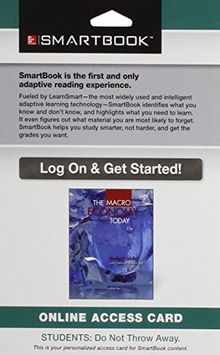 9781259209871: Smartbook Access Card for the Macro Economy Today