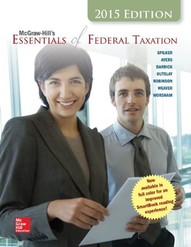 9781259212819: McGraw-Hill's Essentials of Federal Taxation, 2015 Edition