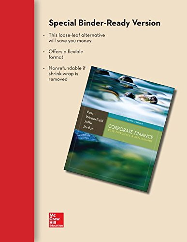 9781259216787: Loose-Leaf Corporate Finance: Core Principles and Applications with Connect Access Card
