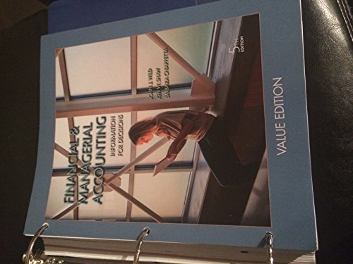 9781259216855: Financial & Managerial Accounting: Information for Decisions, 5th Edition W/Connect Plus Access Code