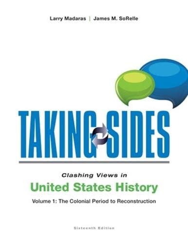 9781259217074: Taking Sides: Clashing Views in United States History, Volume 1: The Colonial Period to Reconstruction