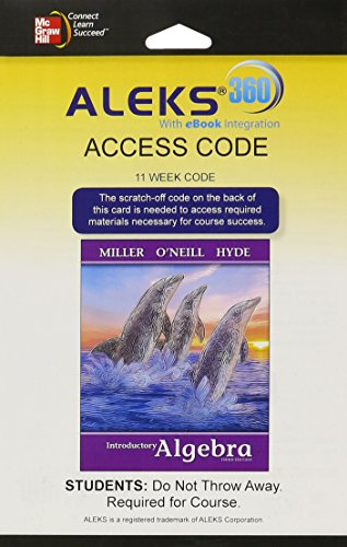 9781259217173: ALEKS 360 Access Card (11 weeks) for Introductory Algebra