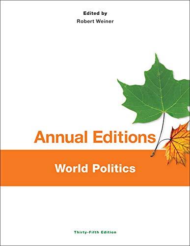9781259219276: Annual Editions: World Politics, 35/e