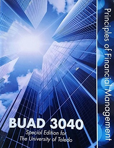 9781259224348: Principles of Financial Mangement, BUAD 3040, University of Toledo