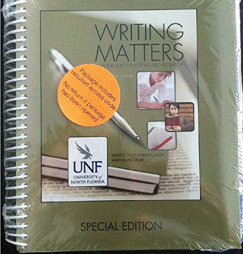 9781259224935: Writing Matters Package (UNIV NORTH FL)