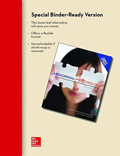 9781259226830: Loose Leaf for Abnormal Psychology with DSM-5 Update