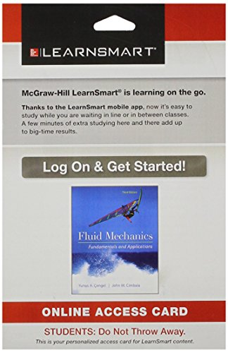 9781259229602: LearnSmart Standalone Access Card for Fluid Mechanics Fundamentals and Applications
