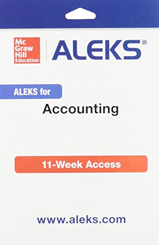 9781259233968: ALEKS Access Card for Accounting - 11 weeks