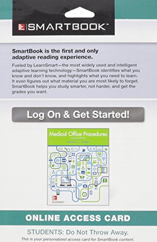 9781259234316: SmartBook Access Card for Medical Office Procedures