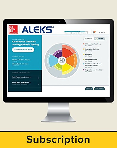 9781259238420: ALEKS Access Card for Accounting - 18 weeks