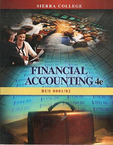 9781259240300: Financial Accounting 4e By John J. Wild