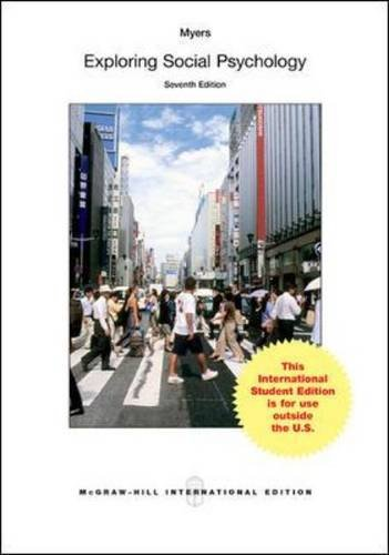9781259251580: Exploring Social Psychology (Int'l Ed)