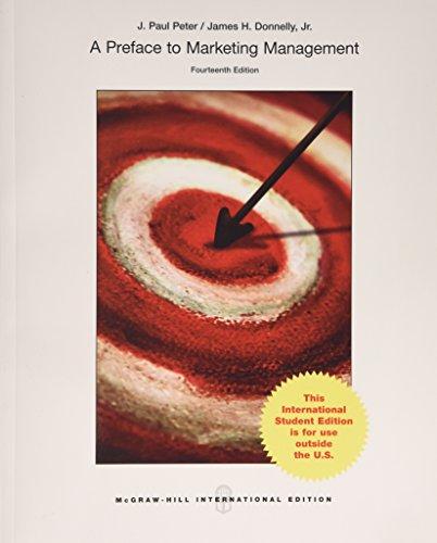 Preface to Marketing Management: J. Paul Peter