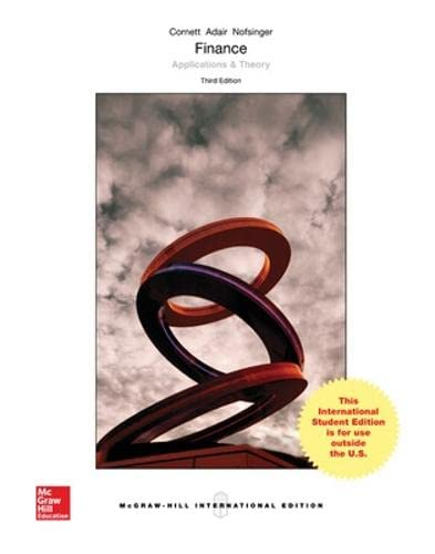 9781259252228: Finance: Applications and Theory (Int'l Ed)